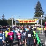 今年最初の大会は米軍基地内を走るハーフマラソン